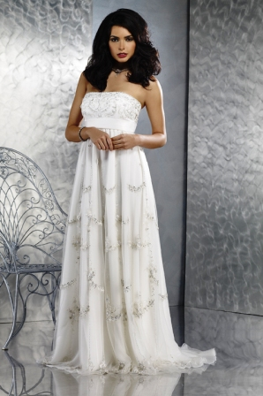 5124020f973 Купить или сшить Свадебное платье для беременных WPD - 0027 ...