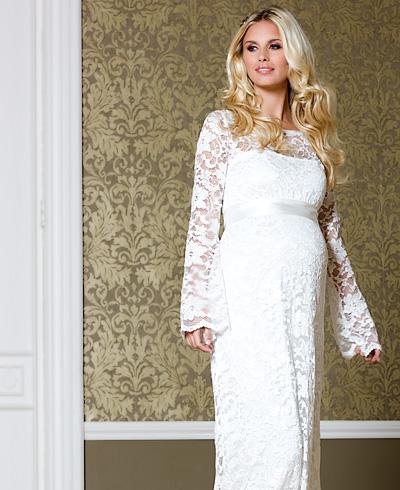 96c72530f65 Купить или сшить Свадебное платье для беременных WPD - 0057 ...